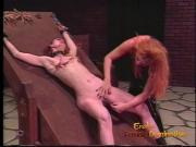 Skinny brunette playgirl is down for some hardcore spanking