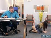 Stepteen jizzed in office