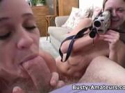 Busty amateur Sunny and Holly on hot Pov