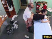 Real euro patient bendover and fucked by doc
