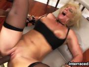 Insatiable Melissa gets her ass eaten and pounded by a BBC