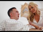 Blonde Nurse helps with Boner