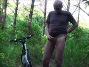 wanking in the wood