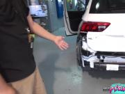 Fucking Daddy And Taking His Big Cum Facial In Car Garage