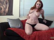 My sexy voice and bouncing tits will make you cum quick JOI