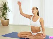Tattooed yoga beauty analy pounded