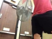 JERKING OFF IN GYM