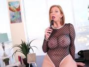 Busty Milf Sara Jay Gets Horny on Lunch Break and Cums Hard!