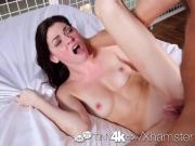 TINY4K Lean Jessica Rex has her pussy scrubbed and fucked