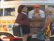 icecream truck cheerleader and school girl share cock and cr