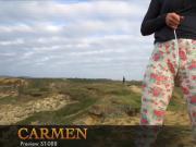 What happens inside Carmen's leggings?