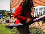 WINDy Skirt Problem In Front Of Workmen 3