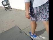 Wife walking on the streets