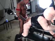 Dick rider has a gangbang session with big dicked hunks