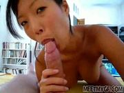 Cute Asian Girl Gives POV BJ
