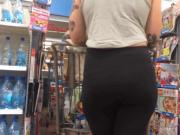 Tatted PAWG in Black Leggings Checkout Line