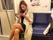 Spy face teens girl in subway romanian