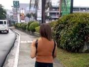 Candid Filipina Girl Walking