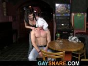 He gets snared and turned into gay slut boy