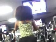 Black candid gym booty