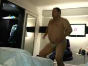 Bear dances in underwear