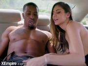 Nina North drilled by BBC in Back of Taxi