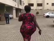 Candid African big booty milf