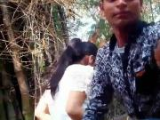 College Couple gets horny in jungle Full on hotcamgirls . in