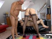 English milf DPed and spitroasted in trio