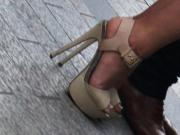 Candid amazing high heels