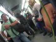 Cachetona en metro