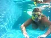 Mauritius Diving lessons in the pool