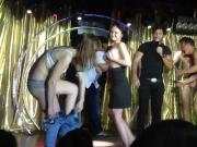Erotic strip competition in a nightclub.