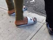 Candid ebony feet silver toes