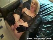 Check My MILF extremely hot wife in stockings sucking cock