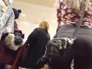 Sexy bubble butt teen shopping