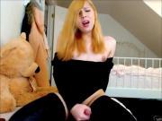 Naughty Ginger Tranny Moaning Hard To Cumshot