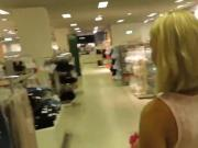 hot wife gets nice facial by stranger in fitting room