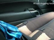 Flashing legs to a voyeur