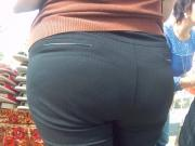 Big butt in pants