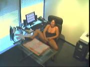 Slut Gets Caught On Spycam- masturbate at work.