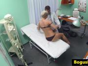 Busty spycam amateur fucked by her doctor