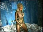 Blond Babe in Chains masturbates