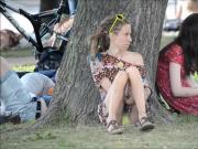 SpyCams Rus Voyeur Public park Ups Girl