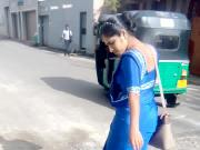 Satin saree blue