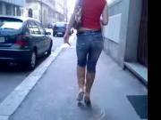 part 2 of ass walking in jeans boots