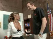 Hot Busty Mature Cougar Teacher Bangs Student