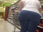 White BBW GILF PHAT ASS Shopper