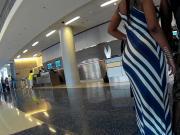 Thick ass striped sundress