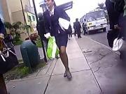 pantyhose and skirt